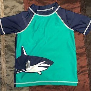 Swim - Boys Shark Rashguard Size 4T